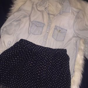 Forever 21 polka dot skirt